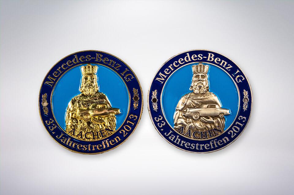 Zander Papier & Pokale Referenzen Medaille Mercedes Benz IG