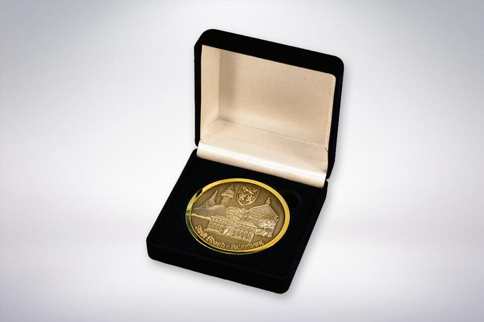 Zander Papier & Pokale Referenzen Medaille Stadt Übach Palenberg