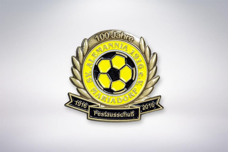 Zander Papier & Pokale Referenzen Pin Alemannia Mariadorf Festausschuß